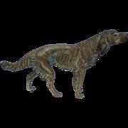 """11"""" English Setter Springer Spaniel hunting dog bronze"""