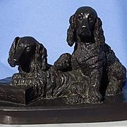 "bronze English Setter Springer spaniel hunting dog Dachshund Baldwin 7"""
