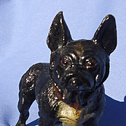 "antique French Bulldog Heyde Germany 5"" as is"