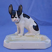 1920s French bulldog Luster ashtray Germany