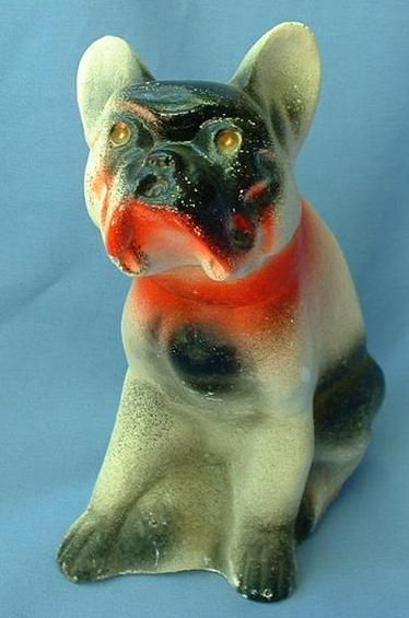 1930/40s carnival chalk dog French Bulldog