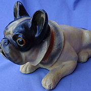 "1930 French Bulldog 11"" chalk dog"