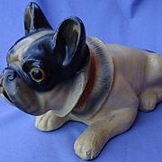 "1930 French Bulldog 11"" chalk dog"