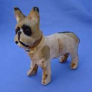antique French Bulldog fashion doll salon dog Germany 4""