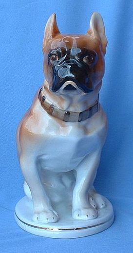 vintage quality porcelain French Bulldog 10""