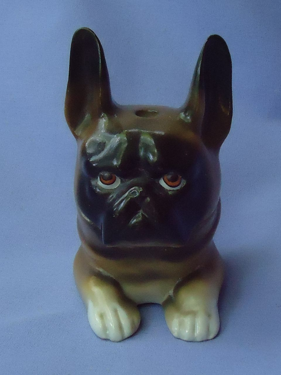 "rare 19c inkwell French Bulldog Germany 4"""
