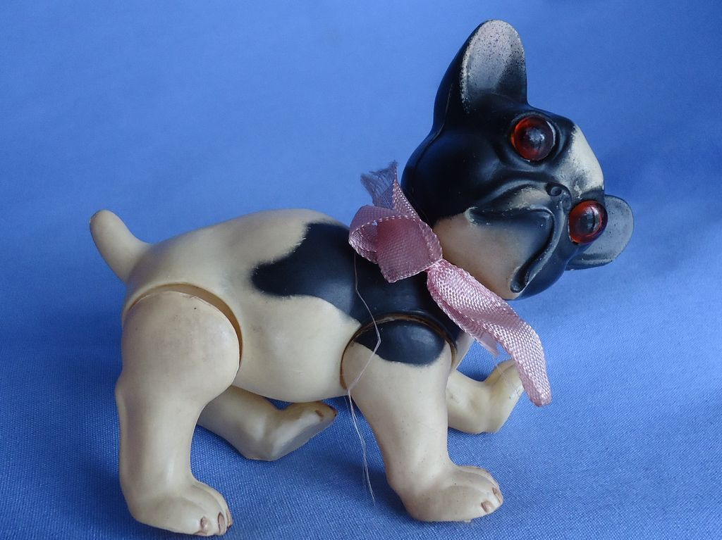 rare French bulldog Juno Germany celluloid toy