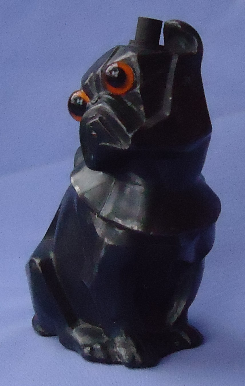 art deco French Bulldog Cubist metal lamp base