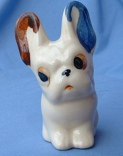 vintage French Bulldog pottery