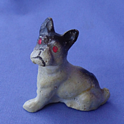 Antique French bulldog putz Germany 2""