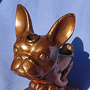 art deco French Bulldog Ronson striker lighter pipe hldr 4""