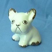 "Sylvac England white French bulldog 4"""