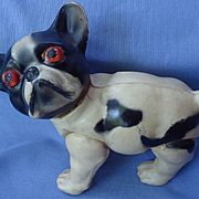 "1920 French Bulldog celluloid toy 5"" Japan"
