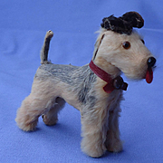 antique Airedale Fripon salon dog French fashion doll Germany
