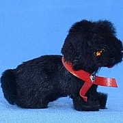 Germany fur toy dog 4 French fashion doll  black Scotty
