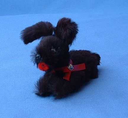 Germany fur toy salon dog 4 French fashion doll  Scotty Schnauzer