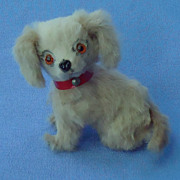German fur toy dog 4 French fashion doll  blond Cocker Spaniel