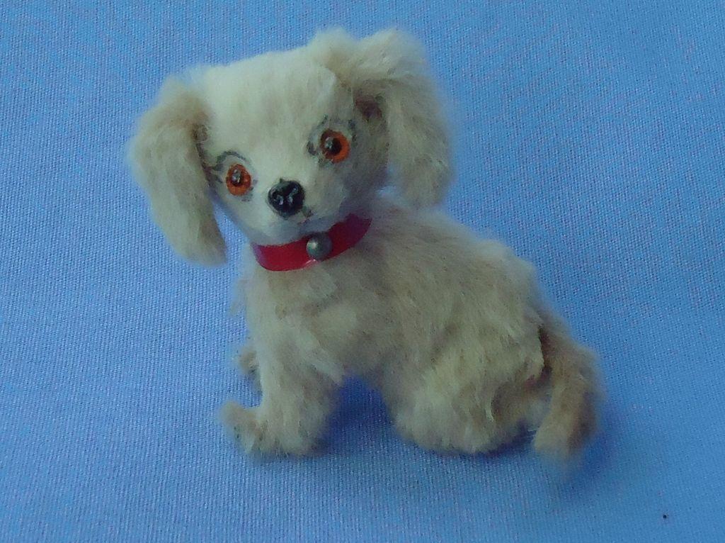German fur toy dog 4 French fashion doll  blond Cocker Spaniel