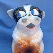 ..vintage French Bulldog Boston Terrier pitcher 7""