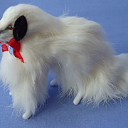 Vintage fur Borzoi salon dog French fashion doll Germany 3x5""