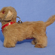 vintage fur Dachshund French fashion doll Germany