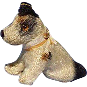 antique Fripon Fox terrier sitting salon dog French fashion doll companion Germany  2""