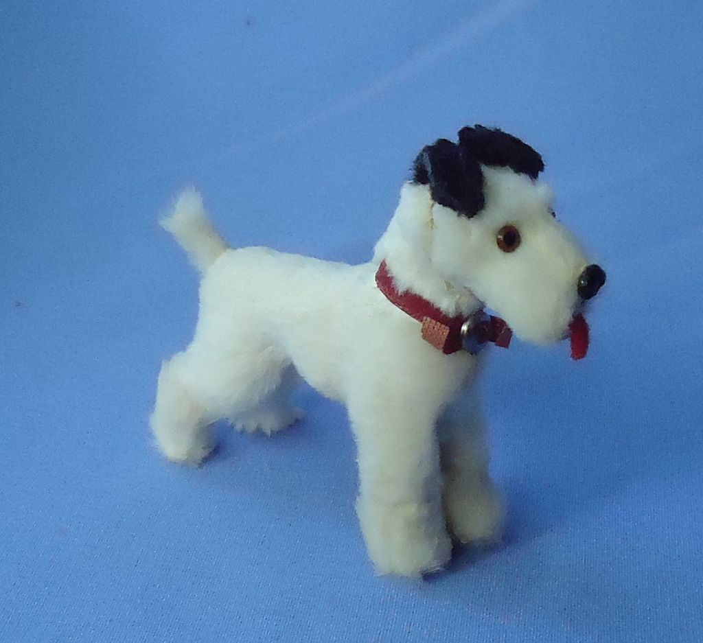 antique fur Fox terrier Fripon salon dog French fashion doll Germany label