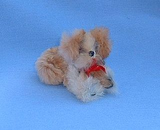 vintage  Pekingese German fur toy  salon dog French fashion doll
