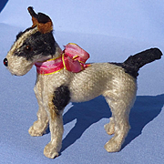 antique Fripon salon dog Fox terrier Germany French fashion doll 4""