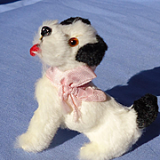antique Fripon Fox terrier salon dog Germany French fashion doll label