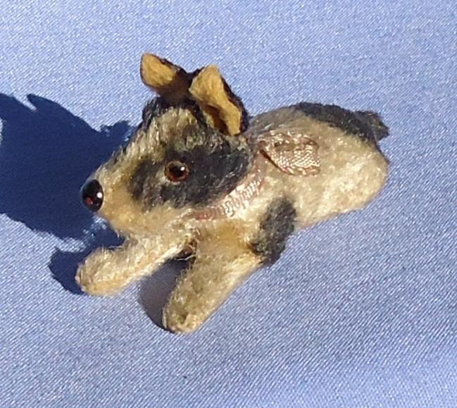 "antique Fripon Fox terrier salon dog French fashion doll Germany 2.5"""