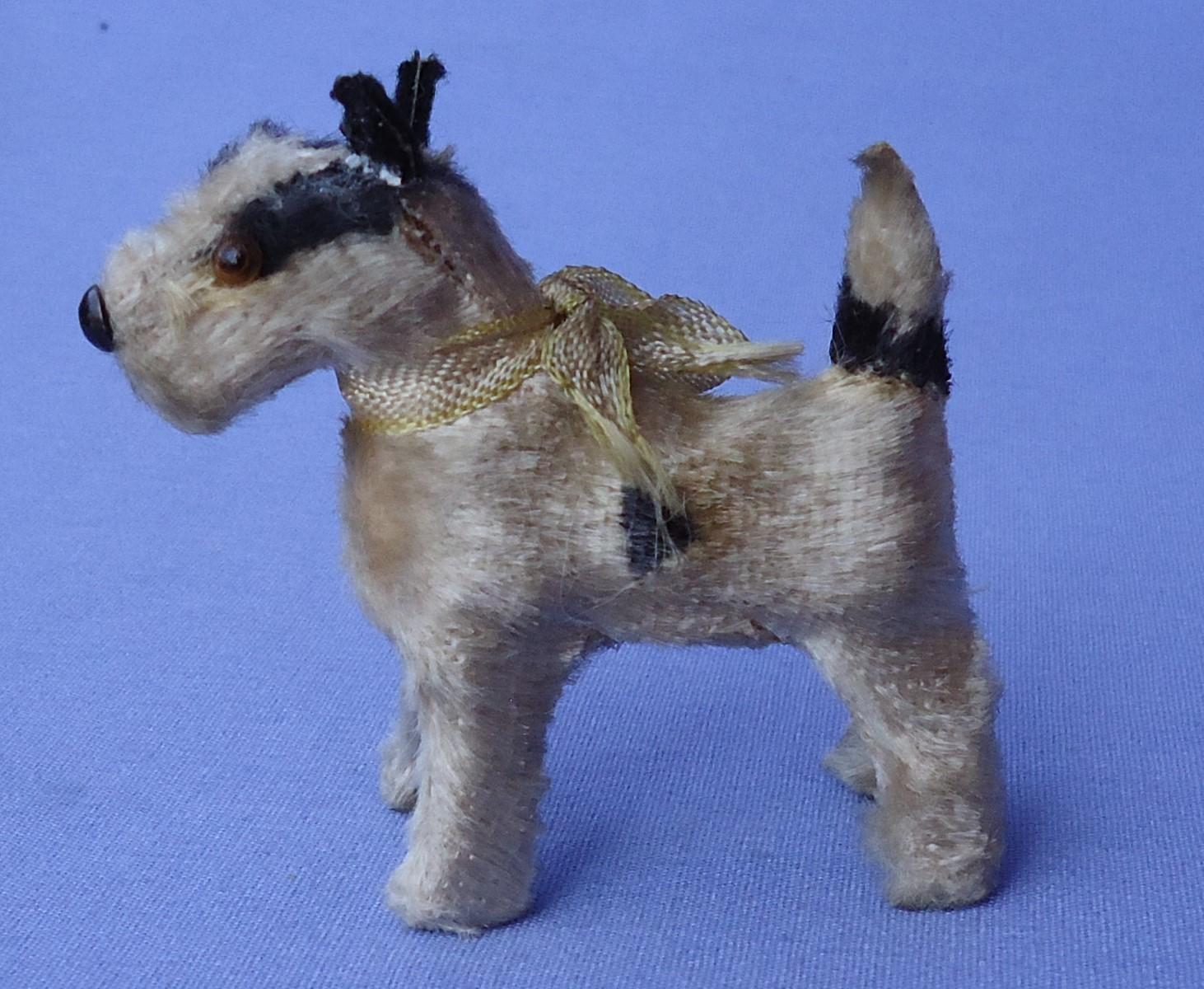 "antique Fripon Fox terrier salon dog French fashion doll Germany 2"""