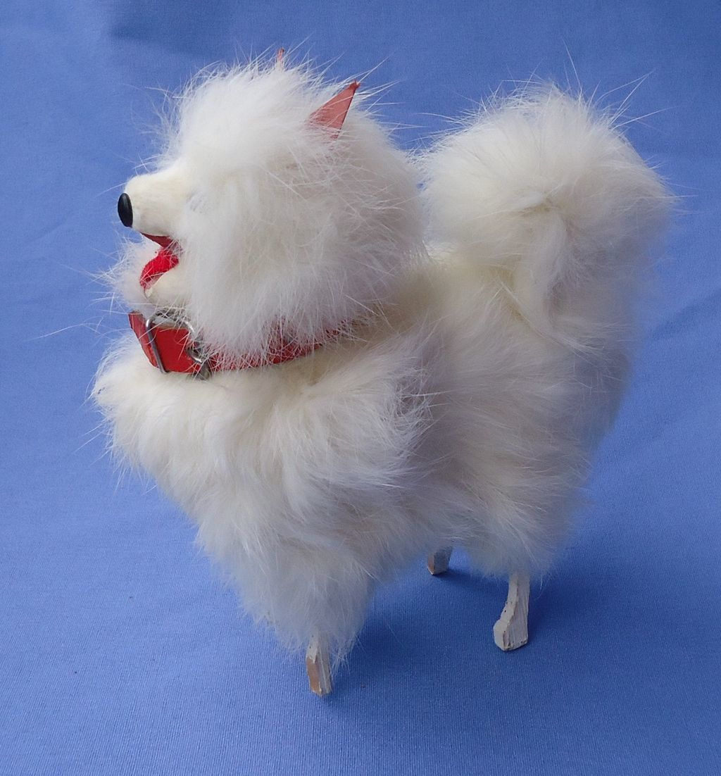 "5"" fur Spitz Pomeranian dog 4 French fashion doll"