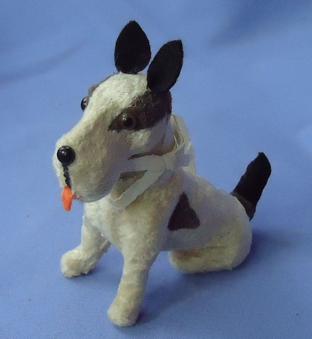Fripon Fox terrier sitting salon dog French fashion doll 5""