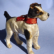 antique Fripon Fox terrier squeaker salon dog French fashion doll Germany 4""