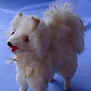 antique Pomeranian Spitz Samoyed salon dog French fashion doll Germany 3""
