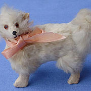 antique Pomeranian Spitz Samoyed salon dog Germany label French fashion doll