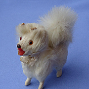 fur  Spitz Samoyed Pomeranian salon dog Germany label French fashion doll 3""