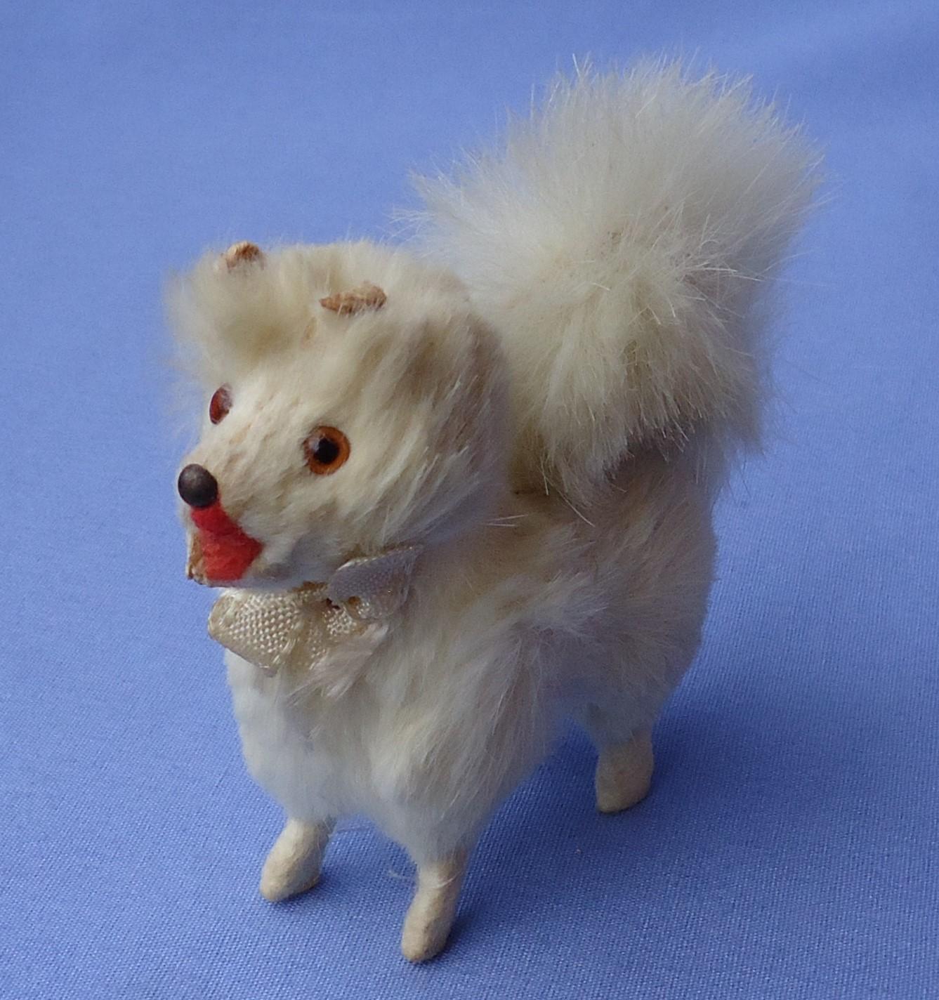 """fur  Spitz Samoyed Pomeranian salon dog Germany label French fashion doll 3"""""""