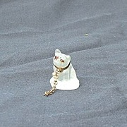 French bulldog Czech deco perfume dangle marked