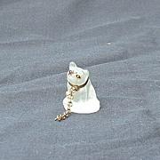 French bulldog Czechoslovakia  deco  glass perfume dangle marked