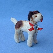 Germany fur toy dog  4 French fashion doll Fox Terrier
