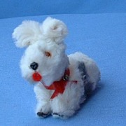 vintage  German fur toy dog 4 French fashion doll  Scotty