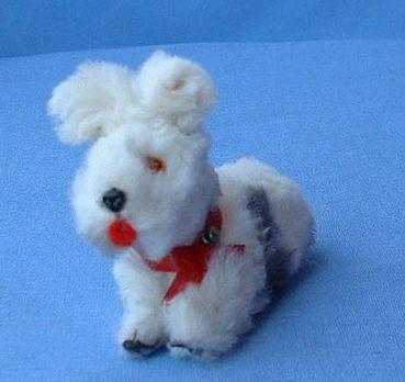 vintage  German fur toy dog 4 French fashion doll  Scotty