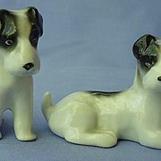 1930 Fox terrier Schnauzer pups Germany 3""