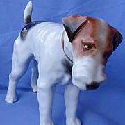"""vintage 13"""" Fox Terrier Jack Russell dog Herend"""