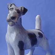 "1950s  Fox terrier Royal Copenhagen 8"" Denmark dog"