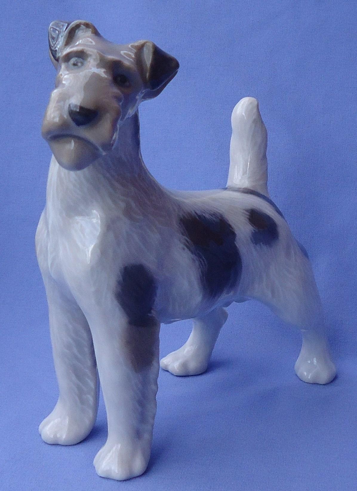 """1950s  Fox terrier Royal Copenhagen 8"""" Denmark dog"""