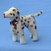 1940 fur toy dog 4 French fashion doll Dalmatian 4""