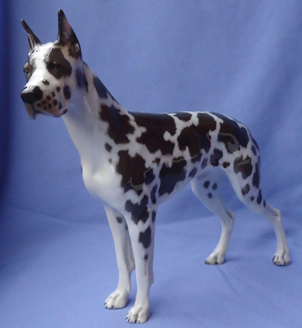 1930 Rosenthal  Harlequin Great Dane 12""